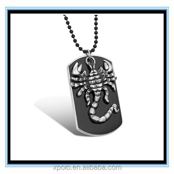 XP-MP-099258 FACTORY PRICE Scorpion 2015 High quality metal dog tag charm