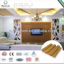 Foshan Rucca WPC manufactured home wall panels, teak wood synthetic wall cladding 202*30mm China Supplier