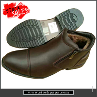 Cheap price stocks warmly men leather shoes