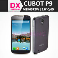mtk6572 smart phone Cubot P9 china wholesale phone white black in stock