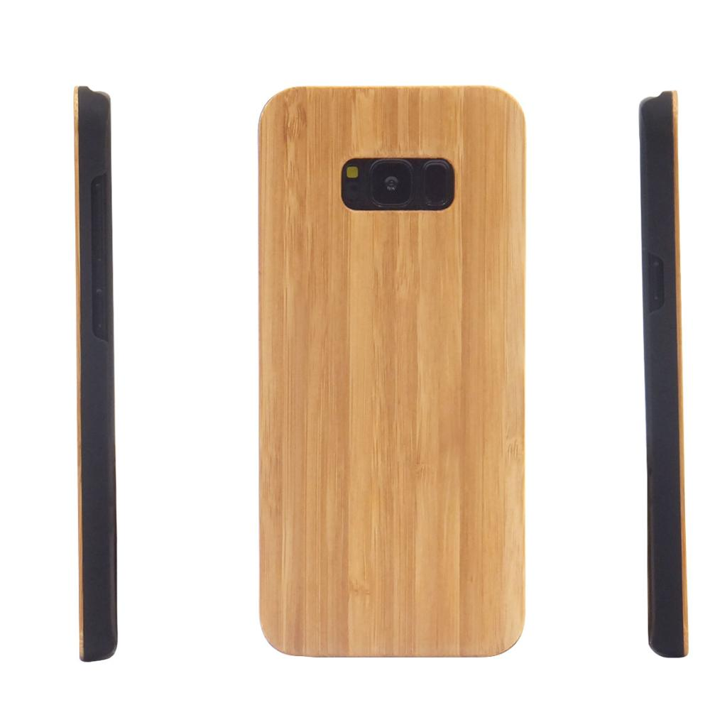 2018 china supplier cheap bamboo wood handphone case for samsung s8 plus