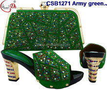 CSB1271 Elegant Italian shoes matching bags comfortable shoes with simple looks with noble temperament for fashion lady