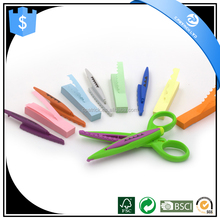 Hot sale Student stationery scissors set fashion design paper lace scissor Kids cutting scissors