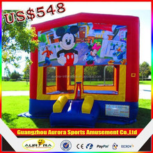 Professional design 0.55mm pvc inflatable bouncer castles with lower factory price