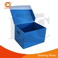 pp plastic material corrugated moving box with lid