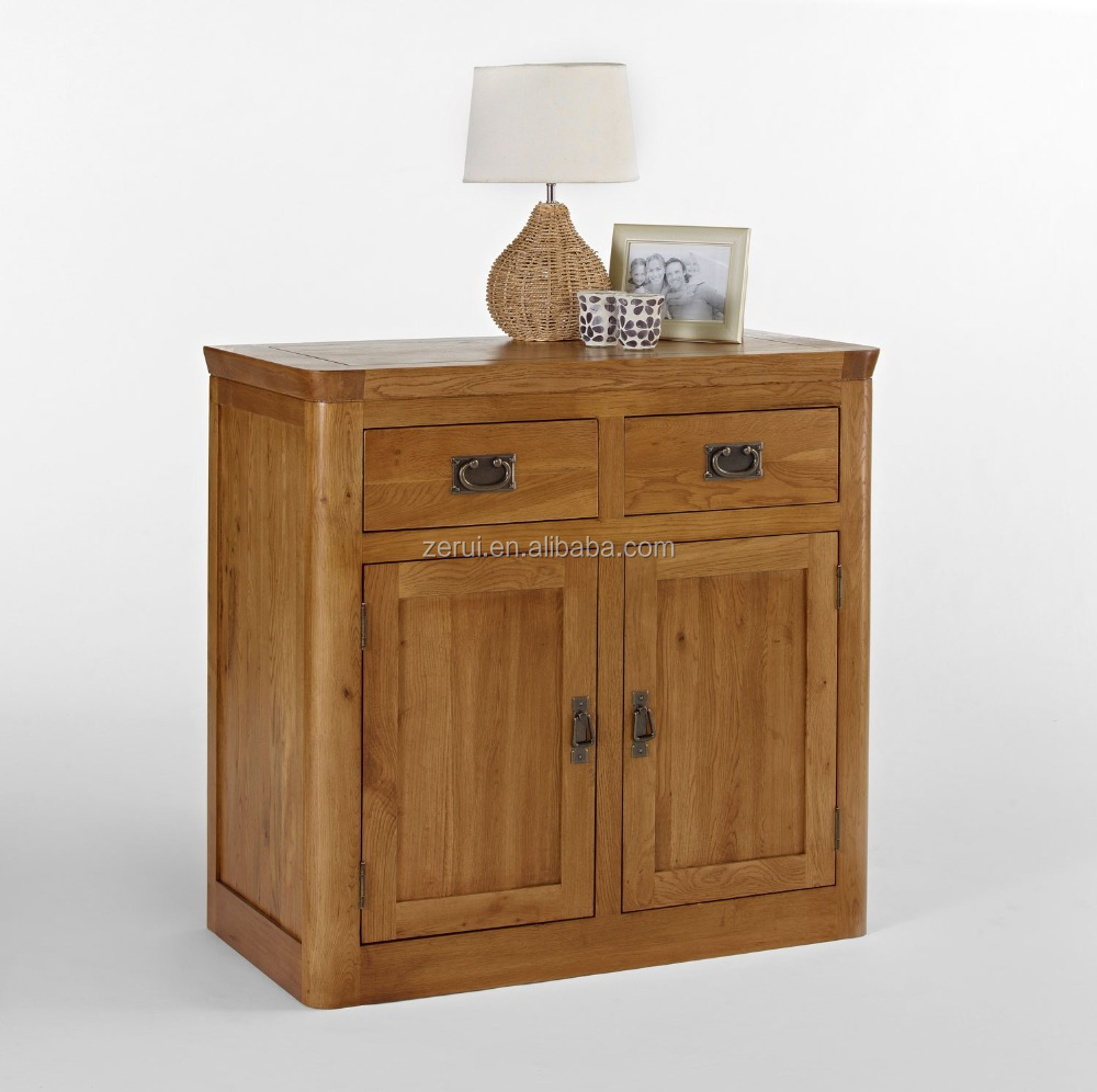 Solid wood oak furniture antique small sideboard buy oak for Solid oak furniture