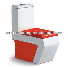 Bathrooom wall mounted colour ceramic wc p trap toilet
