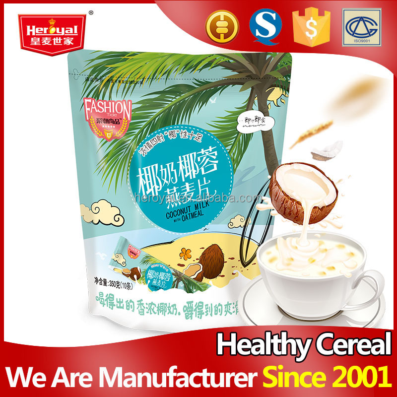 Chewable coconut instant oatmeal manufacturers
