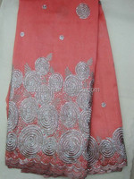 indian raw silk george lace purple fabrics j244-1