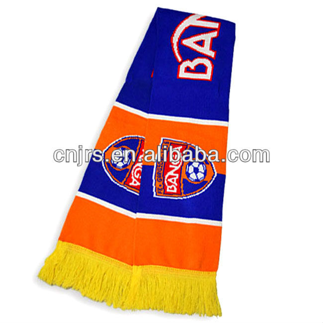 Knit promotional basketball fans scarf acrylic fan scarf