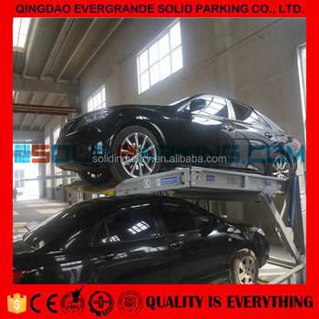 100% laser cutting Low Ceiling Height Power Powder Coating underground parking car lift