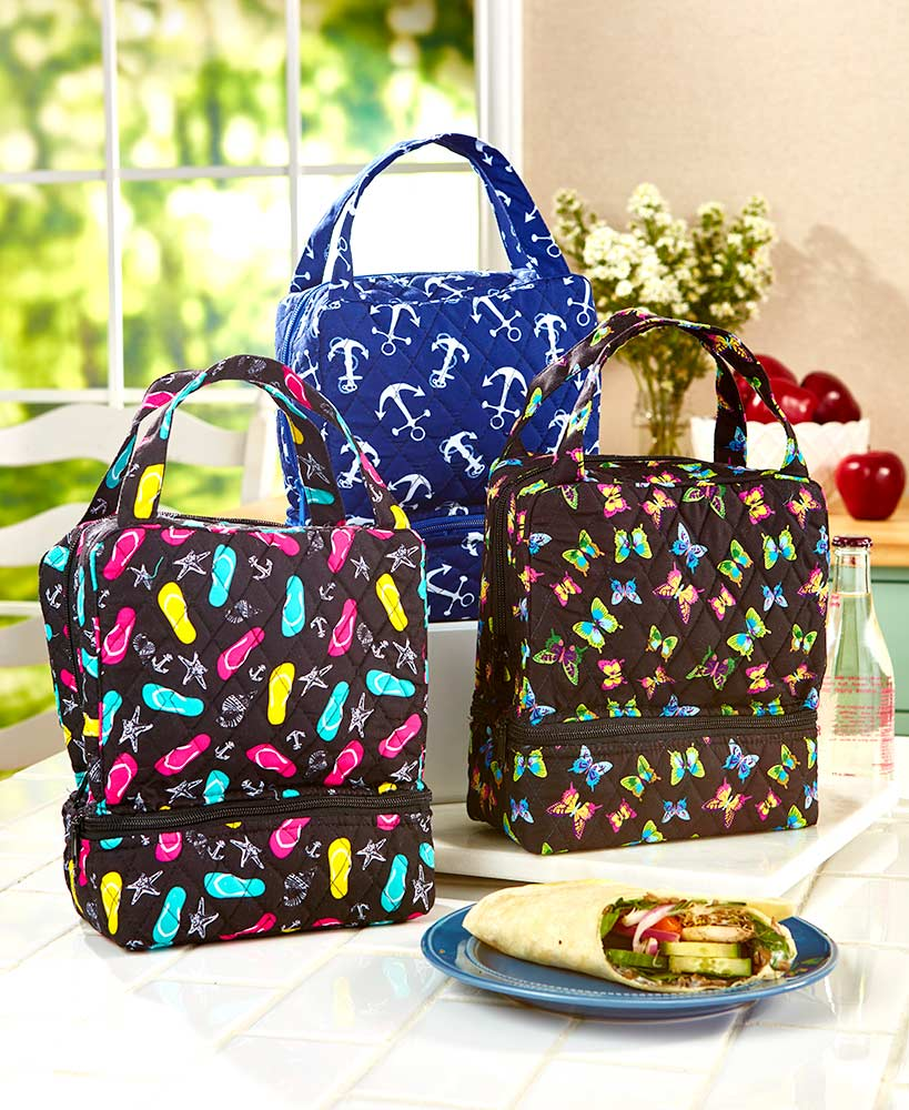 Travel SchoolGrocery Lunch Tote Bags with Zipper for Men Women Kids