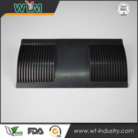Shenzhen supplier black PA66+GF polished injection mould making plastic part