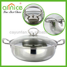 3 Sizes Multi-purpose Visible Lid stainless steel casserole/hot pot