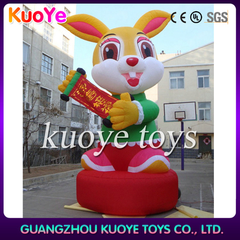 2015 easter advertising decoration/inflatable rabbit cartoon/character for outdoor