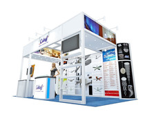 Shanghai design and produce customized tradeshow display booth design 4x6
