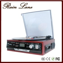 Factory outlet Retro vintage black tape player configure USB/LP/SD/Redio/Cassettes/Record