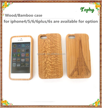 Original Wood Cover For I6 I6 plus Logs Case Wood Back Cover Back Case For iPhone5/6/6 plus Carving Natural Back Cover For Apple