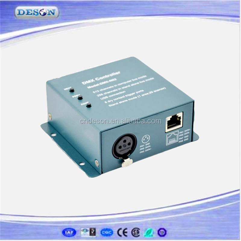 Stand Alone LED DMX Driver , 5-5.5VDC 512 DMX channel 1 Zone DMX Master Controllers DMX-N03