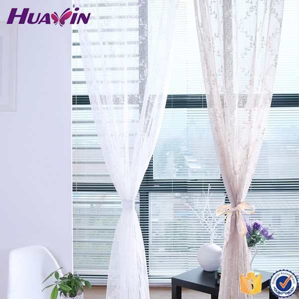 100% polyester High Quality Top Sell knitted sheer Curtain fabric for africa market