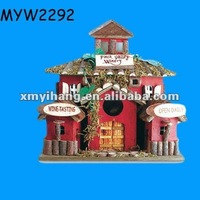 CHRISTMAS House shaped Ceramic clay portable bird cage