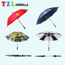 Fashion Automatic Custom Print Parasol Windproof Sun Happy Bike Rain Frame Golf Umbrella