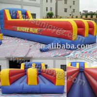 Outdoor Payground Color Paint Inflatable Bungee