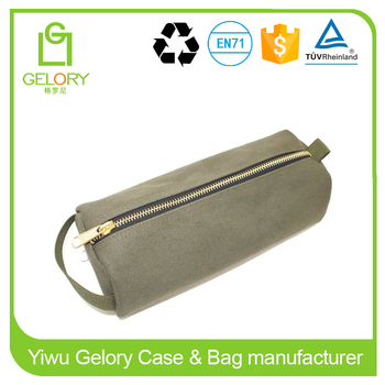 Highly Heavy Canvas material and bag type storage pencil case