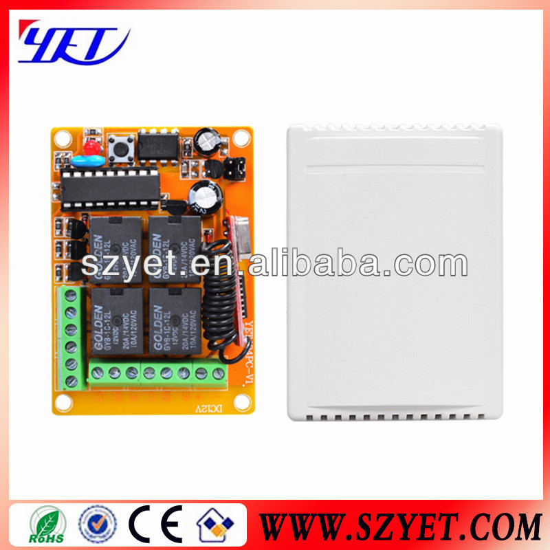 4ch 12v rf remote controller YET404PC made in China