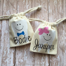 Personalized Boy Girl Tooth Fairy Bag, Personalized Gift, Personalized Keepsake