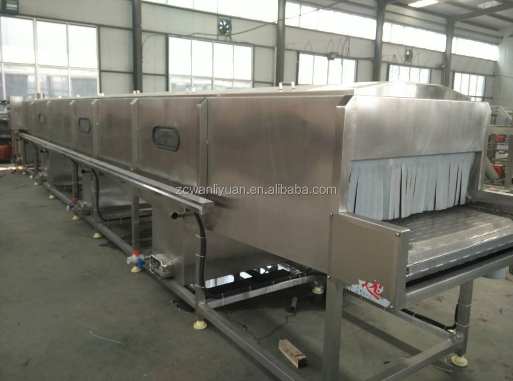 Spray type tunnel pasteurization