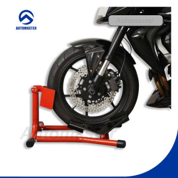 Motorcycle Front Wheel Stand, Black Chocke,Red and Blue