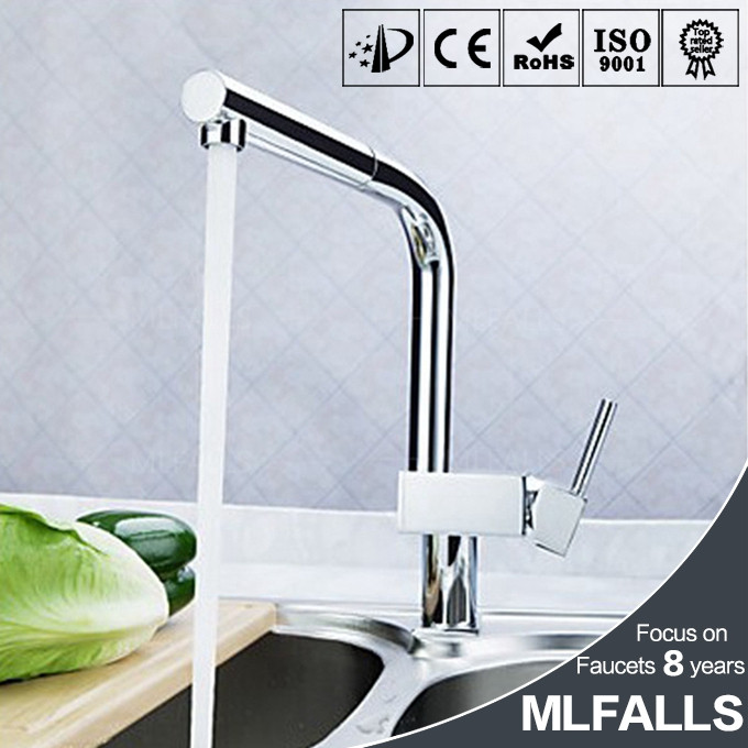Pull out kitchen faucet polished chrome deck mounted sink water tap wholesale sanitary ware