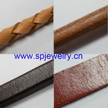 genuine leather flat cord, many shapes and colors for choice