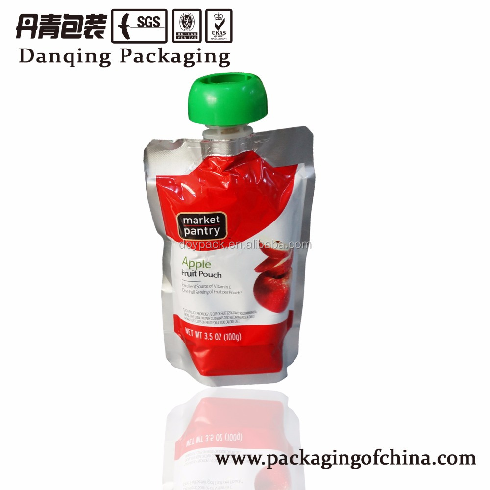 Beverage Packaging Plastic Pouch with Mushroom Spout