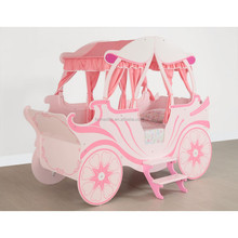children wooden princess carriage bed