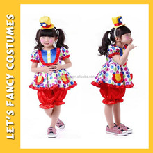 PGCC-2328 Rainbow Clown Cutie Toddler Girls Costume