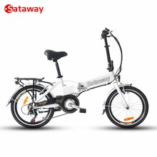 Sataway high quality 20 inch folding electric bike with hidden battery