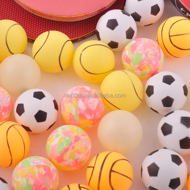 Promotional high quality cheap price customized plastic colorful table tennis ball pingpong balls
