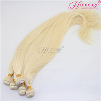 Homeage new style 9A golden yellow remy hair color 613