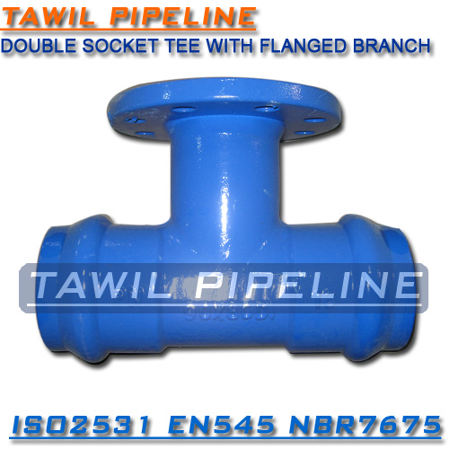 TAWIL China manufacturer Double Socket with Loosing Flange Branch Tee for PVC pipe