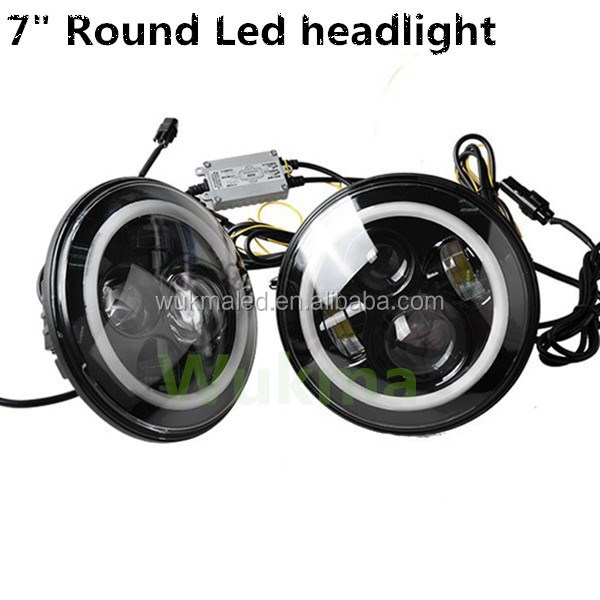 wholesale halo 7inch jeep wrangler led headlight , 45w high /low beam headlight for jeep wrangler