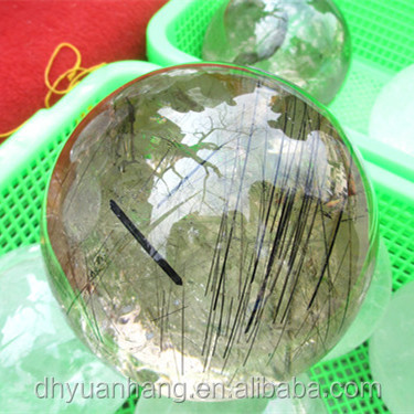 Flawless Rutilated Quartz Ball Crystal Sphere Gemstones Sphere For Sale, Wholesale Quartz Crystal Sphere Crystal Balls