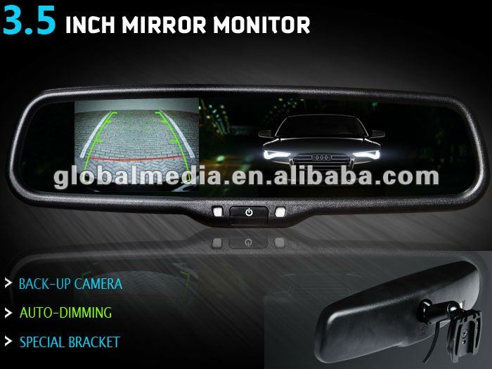 3.5 inch special rearview mirror monitor with lcd auto dimming