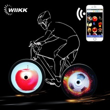 Bike Wheel Lights 256 led Bicycle Spoke Light 200 pattern WiFi APP DIY Version