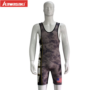 Custom Wrestling Singlets Camo Cheap Sublimated Wrestling Singlet