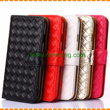 Classical Handmade case for samsung s6, for samsung s6 Mesh weave leather case