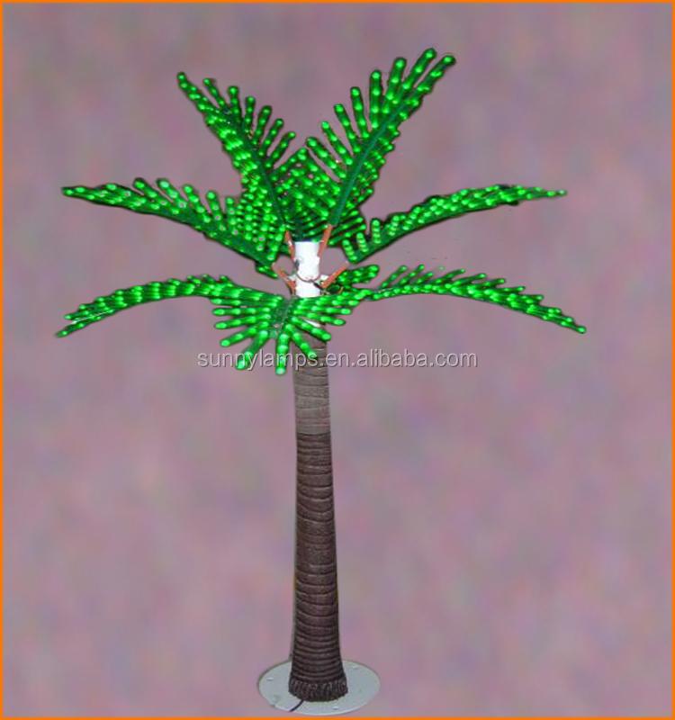 plastic date palm tree led light, palm tree usb flash drive