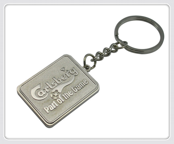 New Design Customized Promotion Made Metal Laser engraved name keychains For Gift