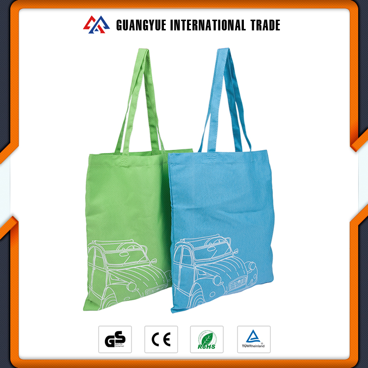 Guangyue Promotional Custom Reusable Cotton Canvas Gifts Shopping Bag